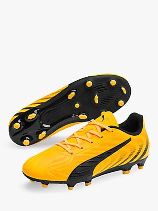 PUMA Children's ONE 20.4 Firm Turf Football Boots, Ultra Yellow/PUMA Black/Orange