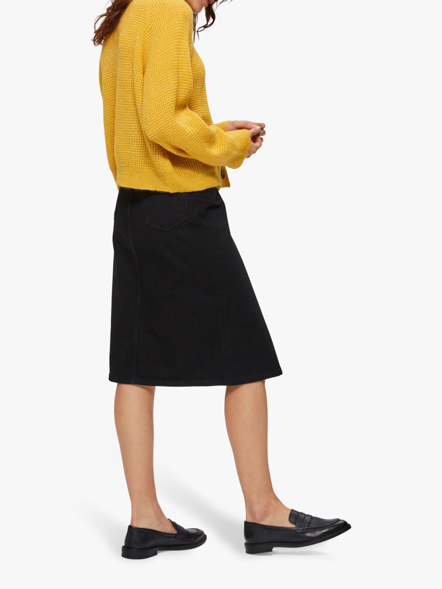 Selected Femme Selected Femme Fanny Knit Cardigan, Lemon Curry