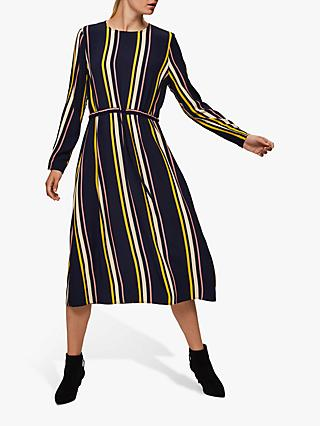 Selected Femme Lucia Damina Striped Dress, Nigh Sky