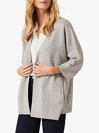 Phase Eight Elana Cocoon Cardigan, Grey Marl