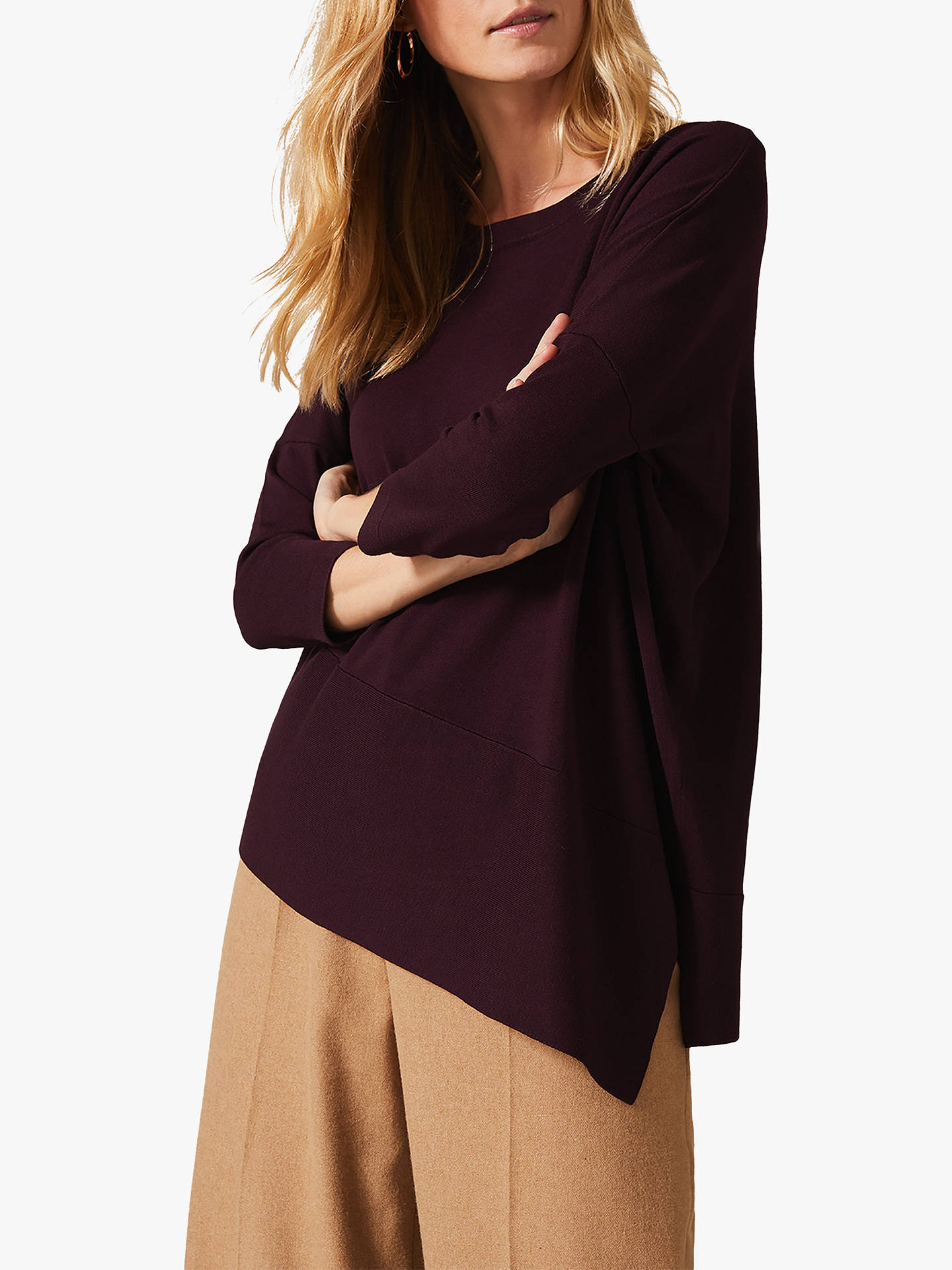 Buy Phase Eight Agatha Asymmetric Knit Top, Madiera, S Online at johnlewis.com