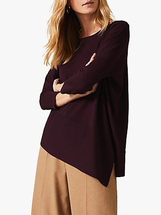 Phase Eight Agatha Asymmetric Knit Top, Madiera