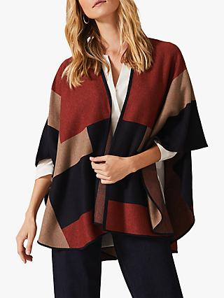 Phase Eight Nel Colour Block Oversized Cape