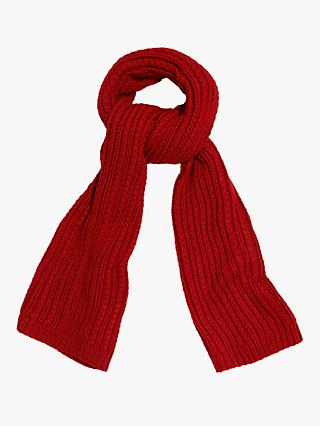 Phase Eight Caris Cable Knit Scarf, Red