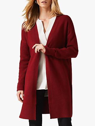 Phase Eight Samy Soft Touch Midi Cardigan, Rust