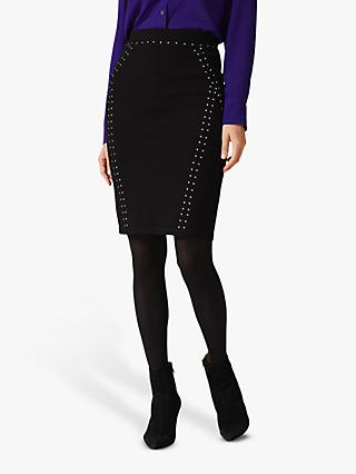 Phase Eight Sophie Stud Skirt, Black