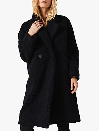 Phase Eight Tabitha Teddy Coat, Navy