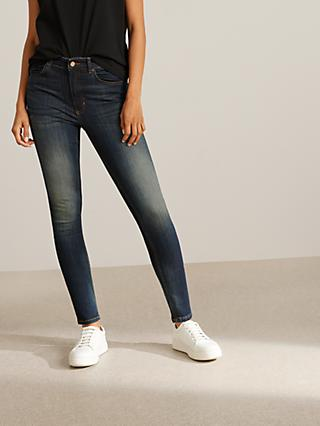 AND/OR Avalon Ankle Grazer Skinny Jeans, Deja Blue