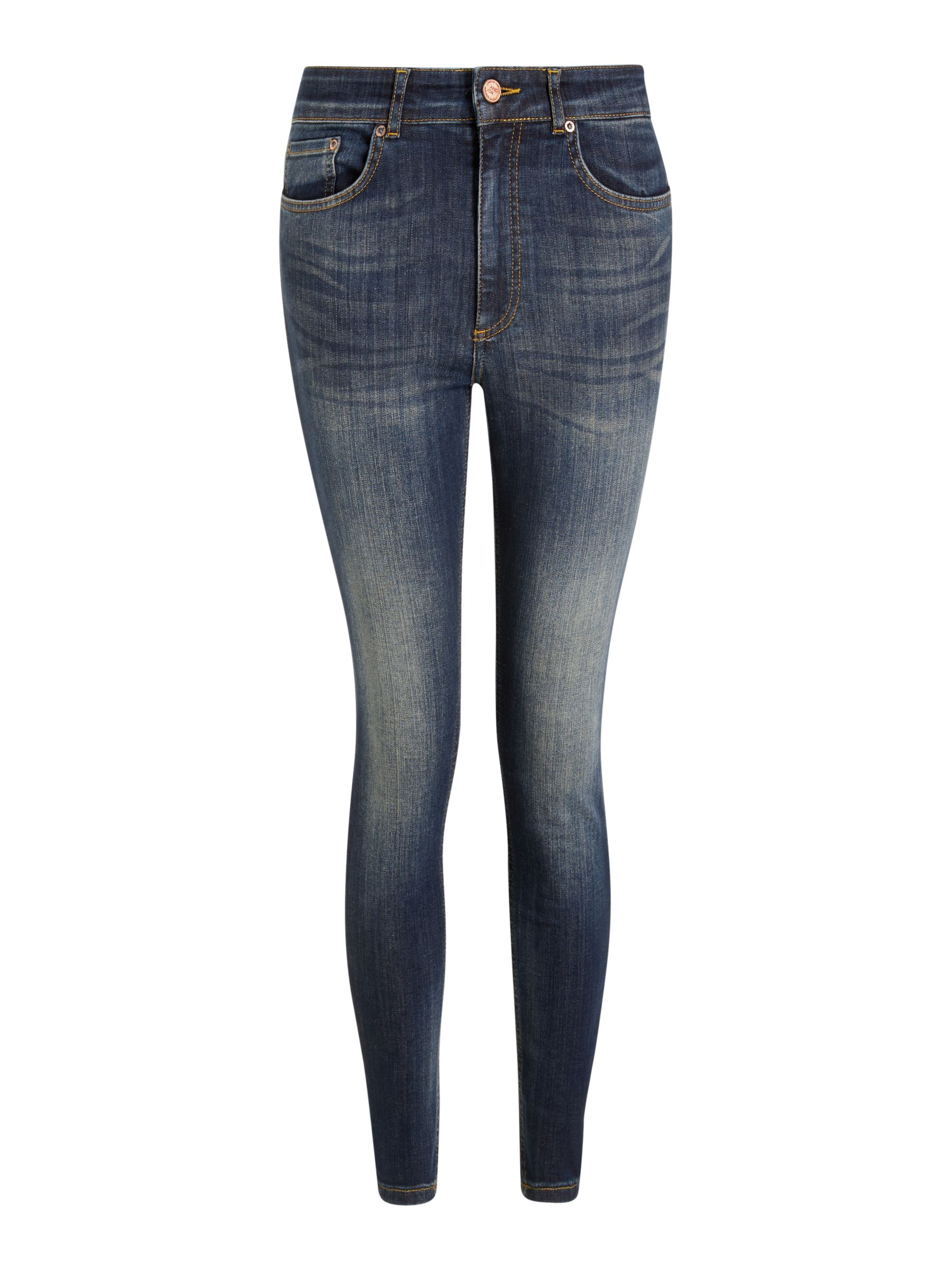 Buy AND/OR Avalon Ankle Grazer Skinny Jeans, Deja Blue, 26R Online at johnlewis.com