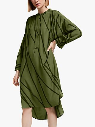 Kin Metoko Oversized Utility Dress, Green