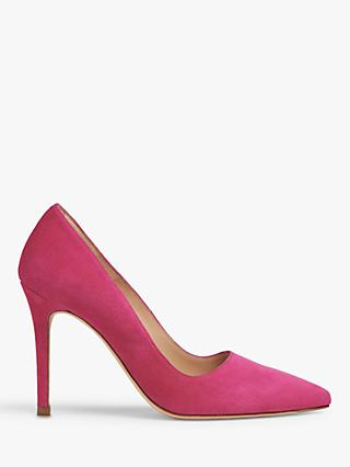 L.K.Bennett Katie Stiletto Heel Suede Court Shoes, Magenta