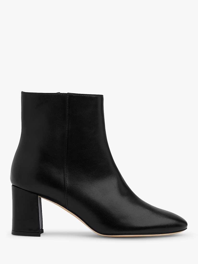 L.K.Bennett Jette Leather Ankle Boots, Black by John Lewis