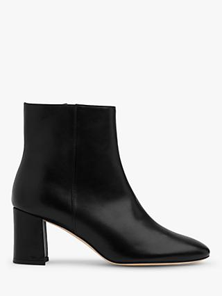L.K.Bennett Jette Leather Ankle Boots, Black
