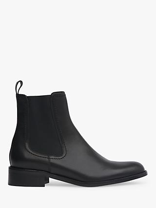 L.K.Bennett Sophie Leather Ankle Boots, Black