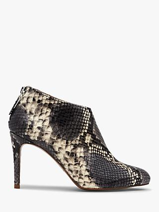 L.K.Bennett Emily Stiletto Heeled Ankle Boots, Natural Snake