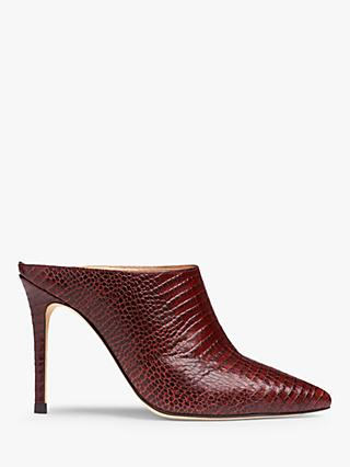 L.K.Bennett Hannah Leather Court Shoes, Burgundy