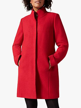 Phase Eight Bailie Wool Funnel Neck Coat