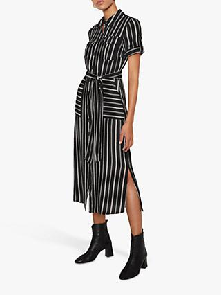 Warehouse Striped Shirt Dress