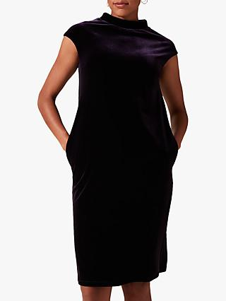 Phase Eight Joelle Velvet Dress, Purple