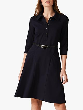Phase Eight Enola Belted Flared Dress, Navy
