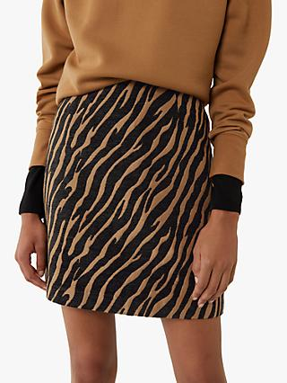 Warehouse Tiger Print Pelmet Mini Skirt, Multi