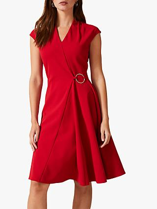 Phase Eight Linden Swing Dress, Red