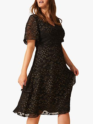 Studio 8 Sammy Metallic Spot Dress, Black