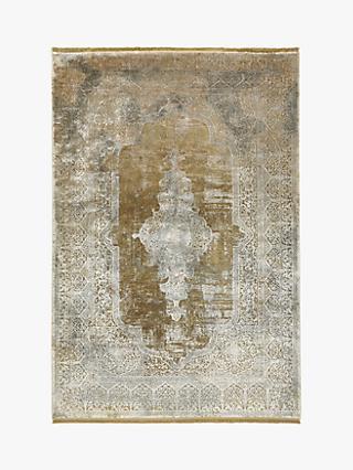 Gooch Luxury Distressed Medallion Rug, Bronze