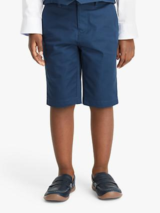 John Lewis & Partners Heirloom Collection Boys' Satin Suit Shorts, Blue