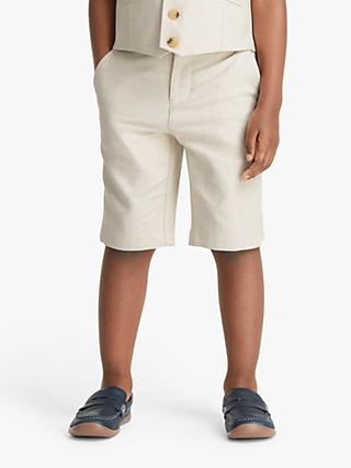 John Lewis & Partners Heirloom Collection Boys' Shorts, Beige