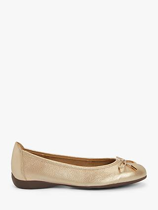 John Lewis & Partners Honey Leather Ballerina Pumps