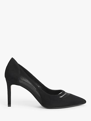 John Lewis & Partners Annika Mesh Insert Stiletto Heel Court Shoes