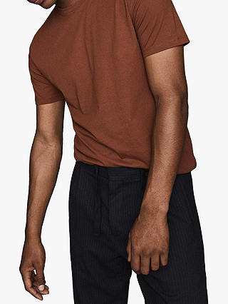 Buy Reiss Bless Crew Neck T-Shirt, Rust, XS Online at johnlewis.com