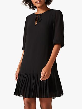 Phase Eight Maisie Pleat Dress, Black