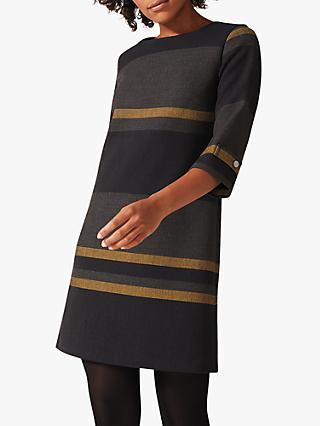 Phase Eight Sophie Stripe Dress, Navy Multi