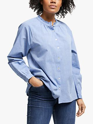 Collection WEEKEND by John Lewis Raglan Chambray Cotton Shirt, Soft Blue