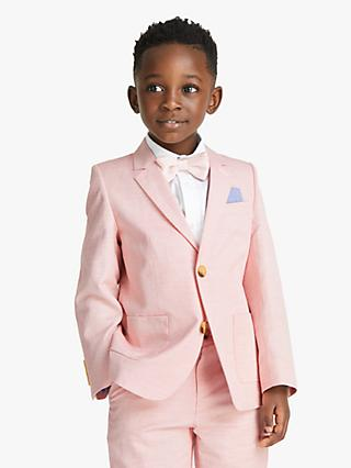 John Lewis & Partners Heirloom Collection Boys' Oxford Blazer, Pink