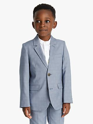 John Lewis & Partners Heirloom Collection Boys' Check Blazer, Blue