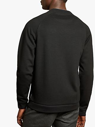 Ted Baker Pied Ribbed Front Cotton Sweatshirt