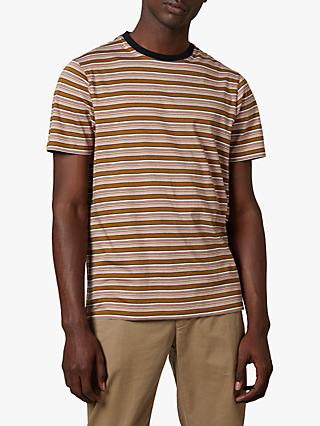 Ted Baker Bizniz Stripe T-Shirt, Bronze