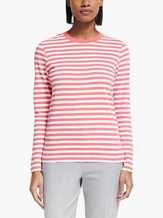 Collection WEEKEND by John Lewis Breton Stripe Top, Peach/White