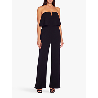 Product photo of Adrianna papell crepe popover jumpsuit black