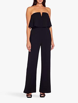 Adrianna Papell Crepe Popover Jumpsuit, Black