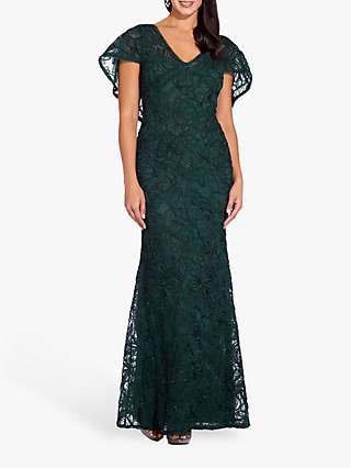 Adrianna Papell Soutache Embellished Dress, Dusty Emerald
