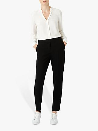 Hobbs Tapered Mina Trousers, Black