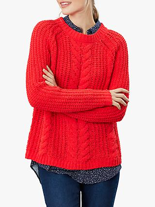 Joules Seaford Chenille Chunky Cable Knit Jumper