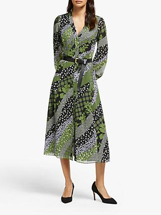 MICHAEL Michael Kors Printed Midi Dress, Evergreen