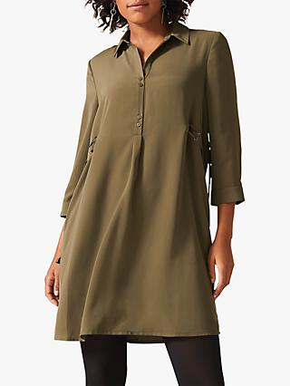 Phase Eight Esi Tunic Dress, Khaki