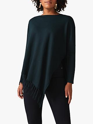 Phase Eight Athena Tassel Knit Jumper, Galactic Green