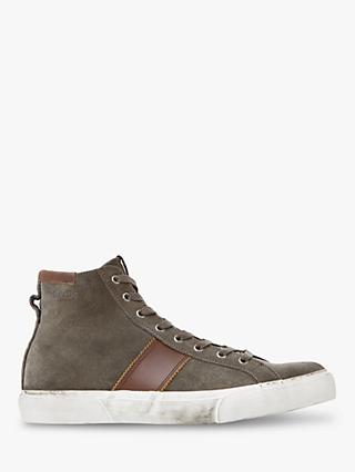 Bertie Canister Suede High Top Trainers, Grey